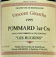 1999 - Vincent Girardin - Pommard 1er Cru Les Rugiens - 75cl VAT & dutty paid-1999 Vincent Girardin Pommard 1erCru Grand1er Les Rugiens Black Floral Earthy Spicy Ample 20-40 30-50